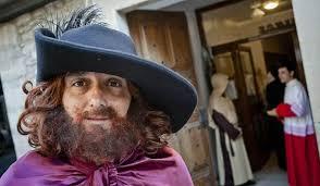 Imatge del principal protagonista de la Fira: Perot Rocaguinarda