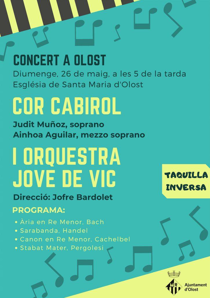 Programa del concert de diumenge