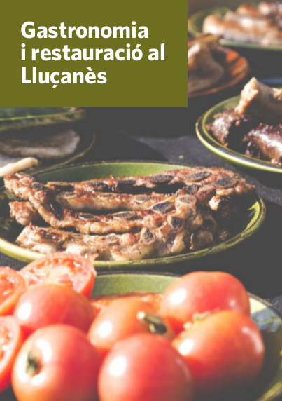 Portada del nou fulletó de gastronomia del Lluçanès